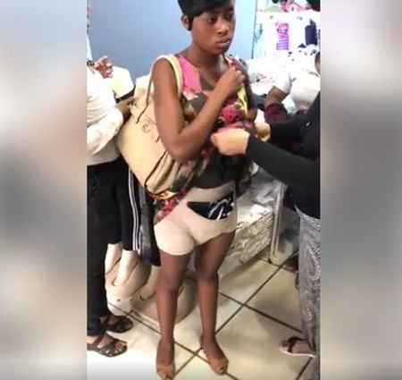 Lady disgraced for stealing – See what she stole | Photo + Video