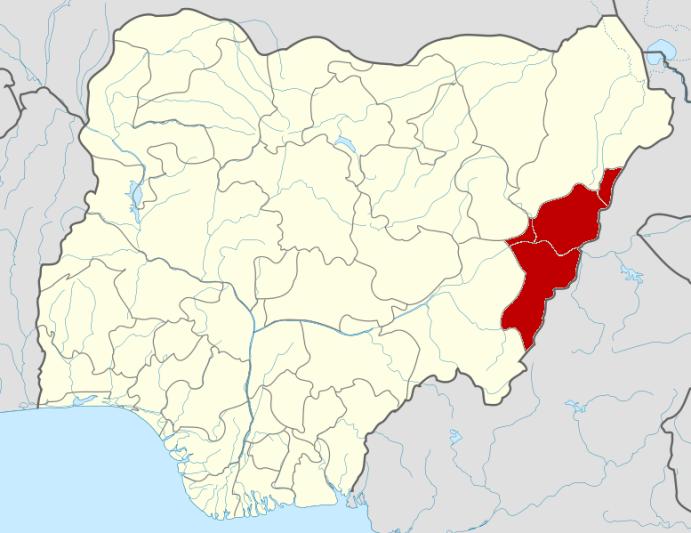 Nigeria Adamawa State Map